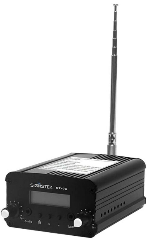 Signstek ST-7C FM Transmitter Mini Radio Stereo Station PLL LCD with Antenna