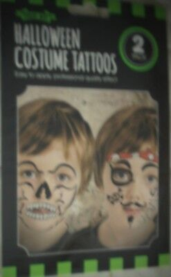 Halloween Costume Tattoos Fight Night Day Of The Living Dead Fancy Dress Make