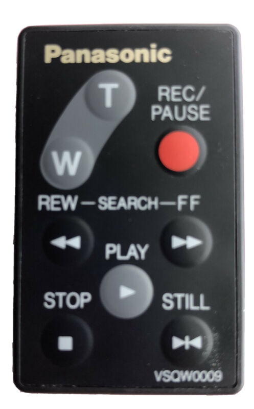 PANASONIC VSQW009 REMOTE CONTROL EXCELLENT CONDITION WITH NEW BATTERY INSTALLED