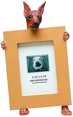 Miniature Pinscher Red Min Pin Dog Picture Photo Frame
