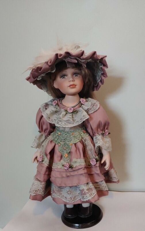 Heirloom Dolls/ Victorian Porcelain Doll With Blond Hair