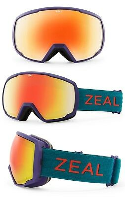 3bdafe8d94 NEW Zeal Nomad Purple Green Red Mirror Mens Ski Snowboard Goggles Msrp 130