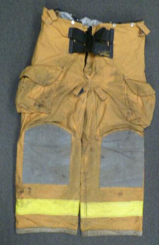 40x28 Janesville Tan Firefighter Pants Turnout Bunker Fire Gear P029