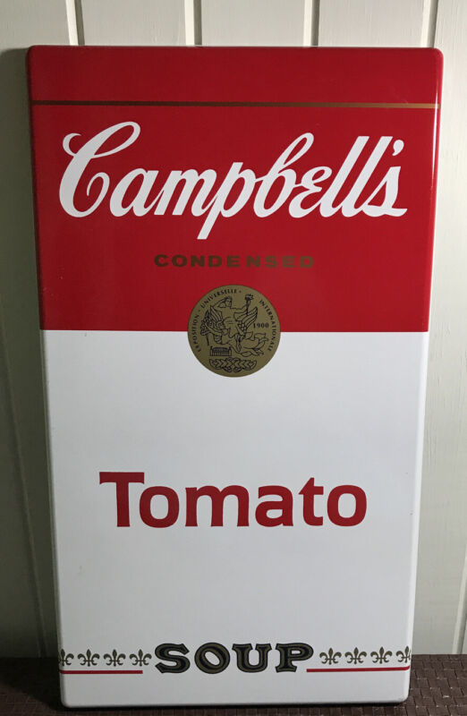 CAMPBELL'S CONDENSED TOMATO SOUP METAL SIGN