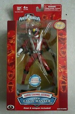 Power Rangers Rpm Toys (Power Rangers Super Legends Extreme RPM Red Eagle Ranger)