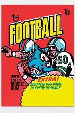 2018 Topps 80th Anniversary Wrapper Art Card 66 1975 Football