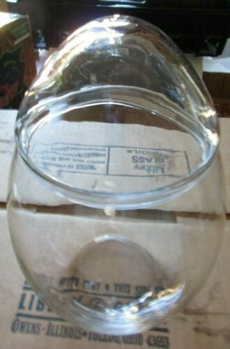 "HTF Medium 7 3/4"" Vintage Libbey Clear Glass Easter Egg Candy Jar Apothecary NEW"