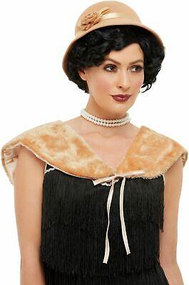 Krimi Flapper Set Hut + Stahl Damen 20s - Stahl Kostüme