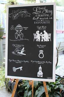 chalkboard artist vintage wedding boards blackboards wedding Beenleigh Logan Area Preview