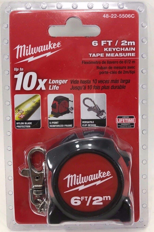Milwaukee keychain tape measure black tool boxes