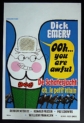 DICK EMERY -OOH..YOU ARE AWFULL –Original 1974 Belgian Poster –GET CHARLIE TULLY