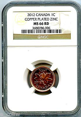 2012 CANADA CENT NGC MS66 RD NON MAGNETIC ZINC HIGH GRADE LAST YEAR OF ISSUE on Rummage