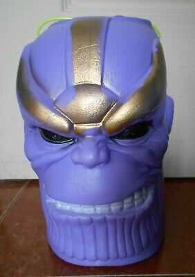 THANOS head monster HALLOWEEN candy BUCKET container BLOW MOLD NO MARVEL figure