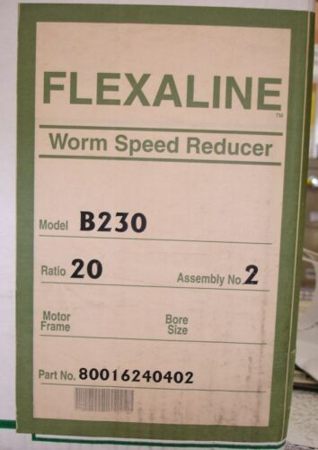 Make Offer NEW Grove Gear B230 Flexaline Worm Speed Reducer B230-20-2 20-1 Ratio