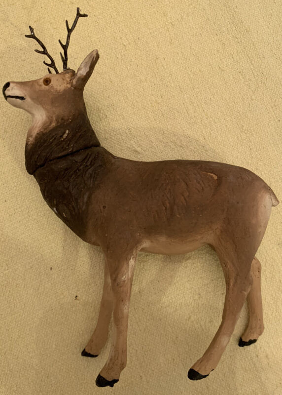 Vintage German Compo Paper Mache Deer Candy Container preWWll