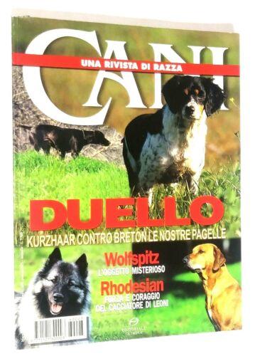 Cani Una Rivista di Razza Dog Magazine Breton Spaniel Rhodesian Ridgeback Mar 96