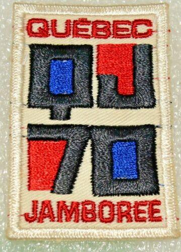 """""""QUEBEC JAMBOREE QJ70"""" Cut Edge Boy Scout Jacket Crest Canadian (QCJam2A)"""