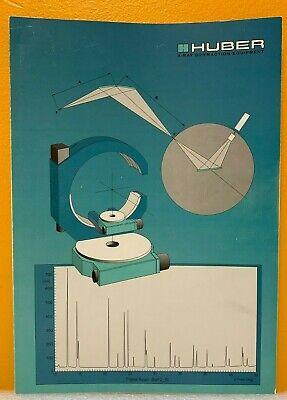 Huber X-ray Diffraction Equipment Catalog.