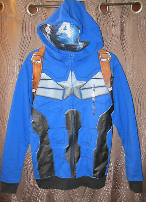Marvel Captain America Winter Soldier Costume Hoodie Sweatshirt Mask Avengers