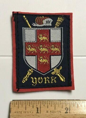 York England UK Coat of Arms Crest Shield Swords Souvenir Woven Felt Patch Badge
