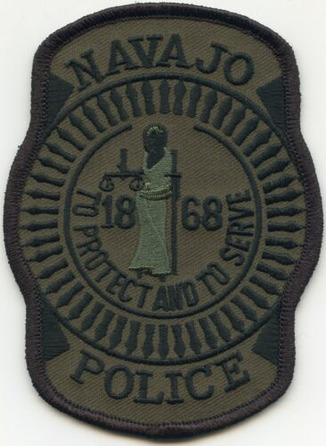 NAVAJO Indian Tribe ARIZONA AZ Subdued Green TRIBAL POLICE PATCH