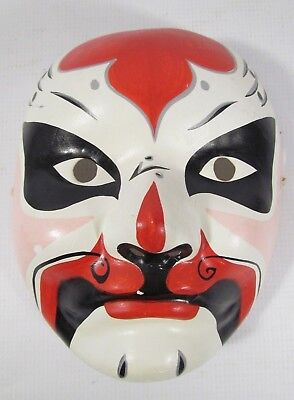 Vintage Hand Painted Carnival Mask Peoples Republic Of China Halloween
