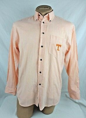 (Tennessee Volunteers Long Sleeve Oxford Button Down Shirt Three Square Large)