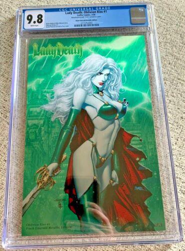 Lady Death Oblivion Kiss #1 Finch Emerald Metallic Edition CGC 9.8 NM Ltd to 26