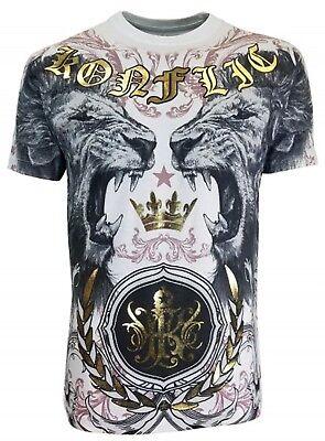 T-SHIRT CROWN KRONE BIKER ROCKER TATTOO INK  Konflic Clothin (Männliche Krone)