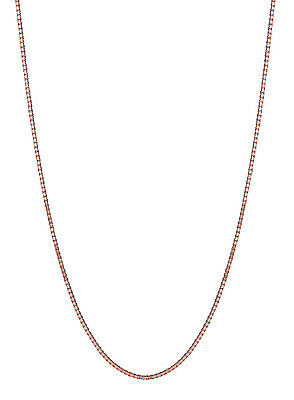 "10K Pink Rose Gold Box Chain 0.45 mm 16"",18"", 20"""