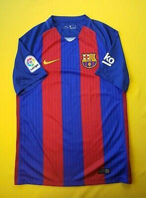 e9eae4964db 5 5 Barcelona Home football shirt 2016 - 2017 jersey small soccer Nike ig93