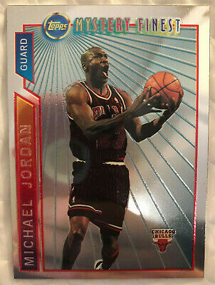 Michael Jordan Topps Mystery Finest 1996-97 Super Team Champions #M14 Bulls BB