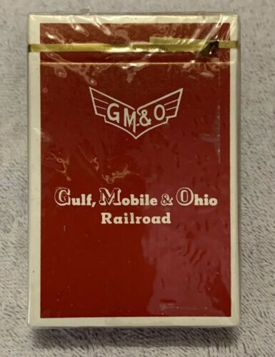 GM&O Railroad Playing Cards - UNOPENED DECK - Red