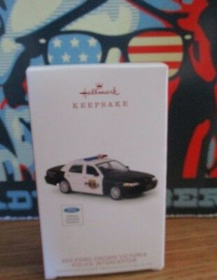 Hallmark Christmas Ornament Ford Crown Victoria Police Interceptor Die Cast Car ()