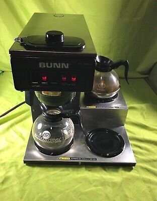 Bunn 3-burner Coffee Maker Vp17-3 Series Commercial Two Pots Included Working