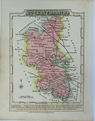 Antique map of Buckinghamshire by William Lewis 1819