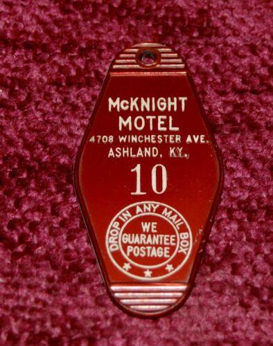 Vintage McKnight Motel Key Fob Ashland Kentucky