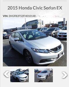 Honda civic Ex  cvt