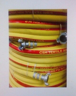 Csh Yllwred Jackhammer Air Hose Assembly 34 X 100 Wchicago Style Fittings