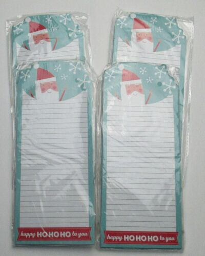 Lot of 4 New Paper Images Happy Ho Ho Ho To You Magnetic Santa List Pads
