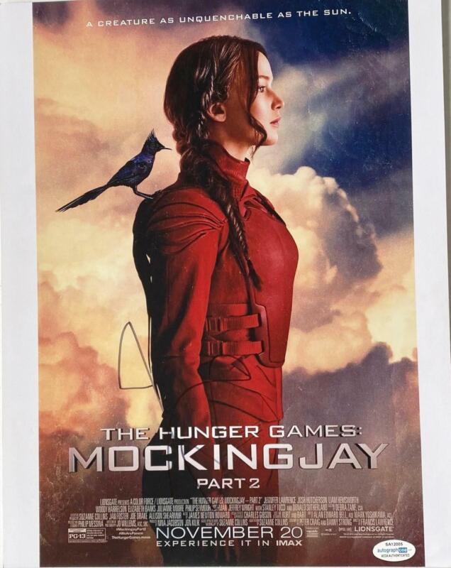 """Jennifer Lawrence """"Hunger Games: Mockingjay"""" AUTOGRAPH Signed 11x14 Photo B ACOA"""