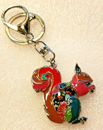 Squirrel Enamel Alloy Key Ring Brown Multicolor Keychain Jewelry