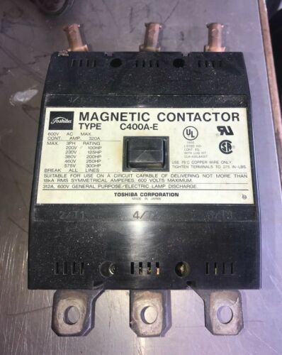 Toshiba Magnetic Contactor Type C-400A-E