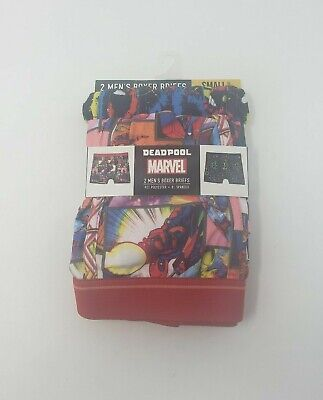 Marvel Deadpool Boxer Briefs 2 Pack Mens Size Small (28-30)