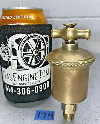 T Handle Automatic Brass Grease Cup Hit Miss Vintage 14