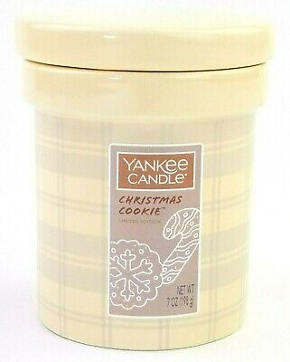 Yankee Candle 7oz Ceramic Crock Candle Limited Edition NEW - Christmas Cookie