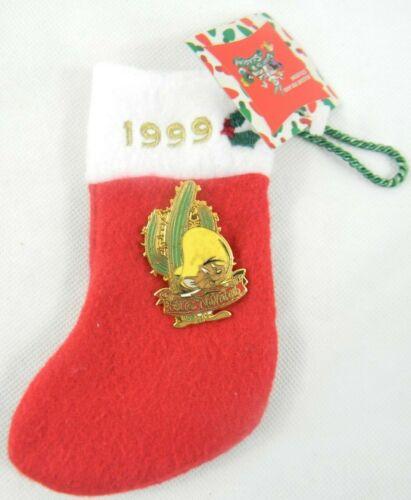 Warner Brothers Speedy Gonzales Feliz Navidad Mouse Pin 1999 Mini Stocking New