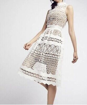 Free People | Ministry Of Style Demure Set Size 8 | White Crop Top & Skirt