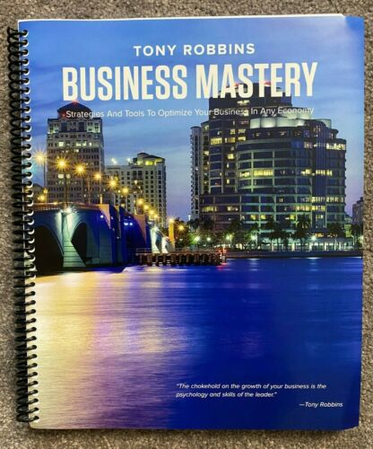 Tony Robbins Business Mastery Workbook Manual - Brand NEW