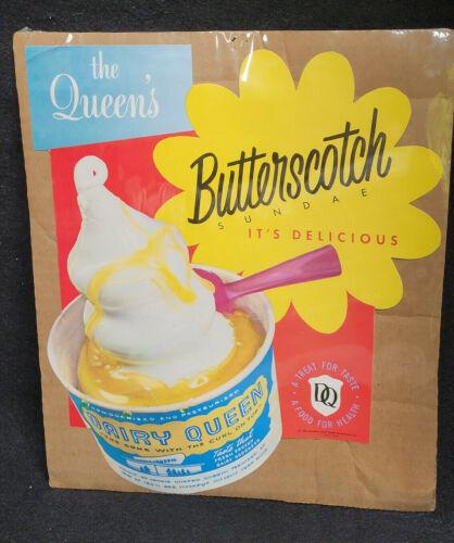Vintage 1955 Dairy Queen Butterscotch Sundae It